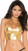 Elegant Moments Lame Cami Top - Gold