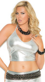 Elegant Moments Queen Size Lame Cami Top - SIlver