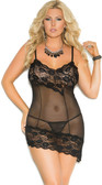 Elegant Moments Queen Size Mesh Babydoll
