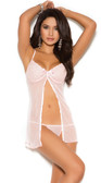 Elegant Moments Mesh Babydoll with Matching G-String