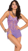 Elegant Moments Lace and Mesh Babydoll