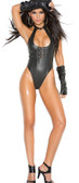 Elegant Moments Leather Teddy with Buckle Front Detail