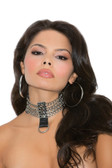Elegant Moments Leather and Chain Choker.