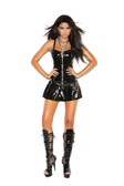 Elegant Moments Vinyl Corset Mini Dress