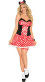 Elegant Moments Plus Size Miss Mouse Costume