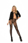 Elegant Moments Fishnet and Lace Crochet Pantyhose