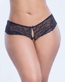 Oh La La Cheri Lacey Racy Panty - Queen Size - Black