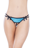 Oh La La Cheri Sequin Crotchless Thong with Bells