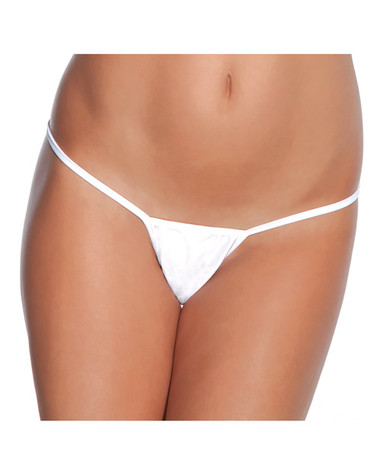 Coquette Low Rise Lycra G-String - White
