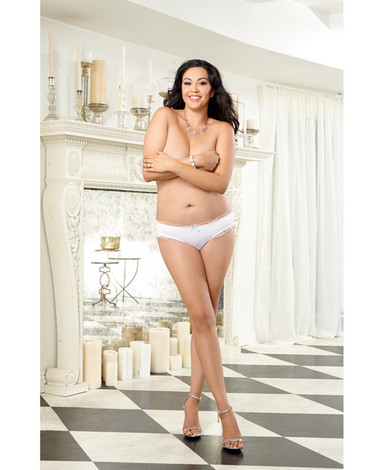 Dreamgirl Microfiber Cheeky Panty w/Rhinestone Bride on Back (Queen Size)