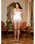 Dreamgirl Nuptial Bride Soft Cotton Jersey Tank w/Metallic Heart Boyshort (Queen Size)