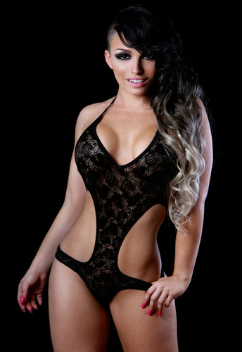 BodyZone Apparel Lace Cheeky Romper