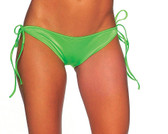 BodyZone Tie Side Scrunch Bottom - Neon Green