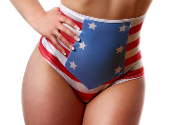 Bodyzone Apparel Patriotic High Waisted Sailor Short