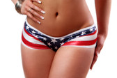 Bodyzone Apparel Patriotic Stripe Back Short