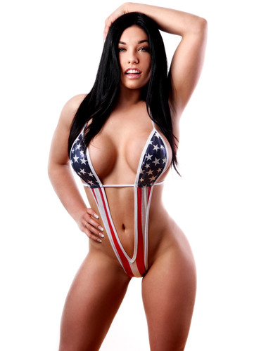 BodyZone Apparel Patriotic One Piece w/ Underbust Strap