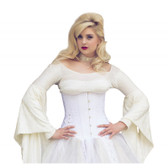 Timeless Trends White Floral Brocade Corset