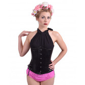 Timeless Trends Black Leather Long Corset