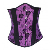 Timeless Trends Purple Black Floral Corset