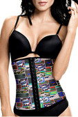 TrueShapers Latex Free Workout Waist Training Cincher Color Print-04