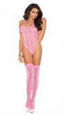 Elegant Moments Opaque Halter Neck Teddy and Stockings