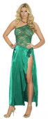 Elegant Moments Pluz Size Charmeuse and Lace Gown