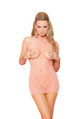 Elegant Moments Cupless Halter Style Lace Dress - OS