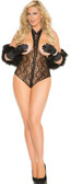 Elegant Moments Queen Size Lace Cupless Teddy