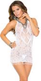 Elegant Moments Crochet Mini Dress with Fringe Trim
