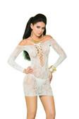 Elegant Moments Long Sleeve Lace Mini Dress - OS