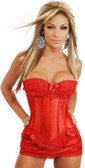 Daisy Corset Plus Strapless Corset, Thong and Skirt Skirt Set