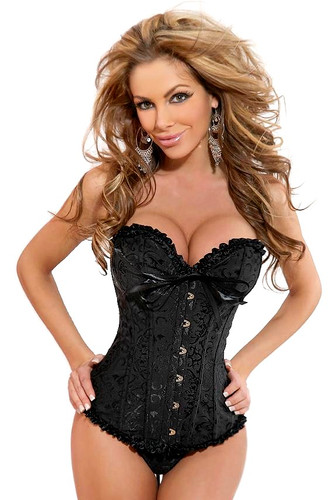 Daisy Corset Plus Size Embroidered Burlesque Corset