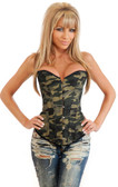 Daisy Corset Strapless Camouflage Corset