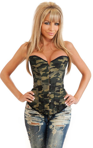 Daisy Corset Strapless Camouflage Corset