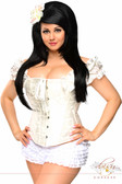 Daisy Corset Plus Size Steel Boned Embroidered Peasant Top Corset
