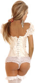 Daisy Corset Steel Boned Embroidered Peasant Top Corset