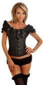Daisy Corset Embroidered Peasant Top Corset