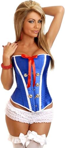 """Daisy Corset Plus Size """"Sexy Sailor"""" Burlesque Corset"""