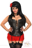 Daisy Corset Plus Size Faux Leather Lace-Up Corset