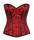 Daisy Corset Lavish Red Lace Overbust Corset