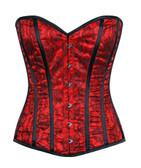Daisy Corset Lavish Red Lace Front Zipper Corset