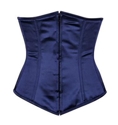 Daisy Corsets Lavish Navy Blue Underbust Zipper Corset