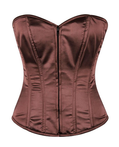 Daisy Corset Lavish Brown Sweetheart Front Zipper Corset