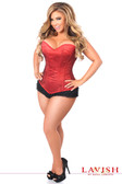 Daisy Corset Lavish Red Glitter Side Zipper Corset