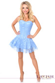 Daisy Corset Lavish Pastel Blue Lace Corset Dress
