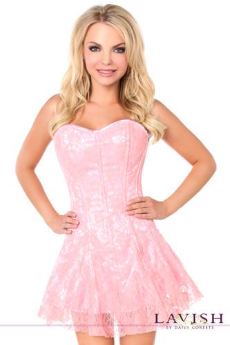 Daisy Corset Lavish Light Pink Lace Corset Dress