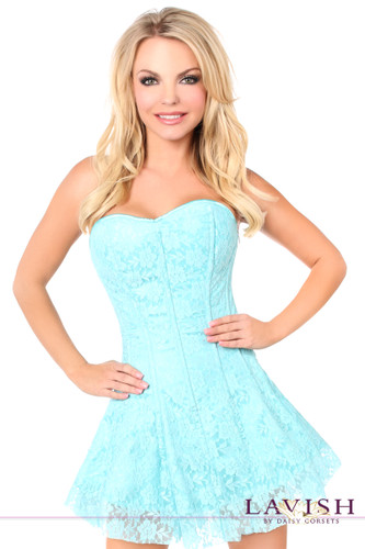 Daisy Corset Lavish Mint Green Lace Corset Dress