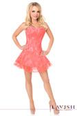 Daisy Corset Lavish Coral Lace Corset Dress