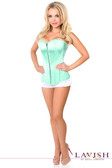 Daisy Corset Lavish Mint Green Sweetheart Front Zipper Corset