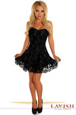 Daisy Corset Lavish Black Lace Corset Dress